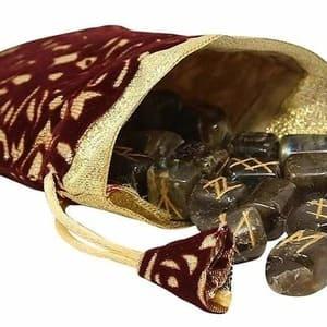 como hacer bolsa runas vikingas