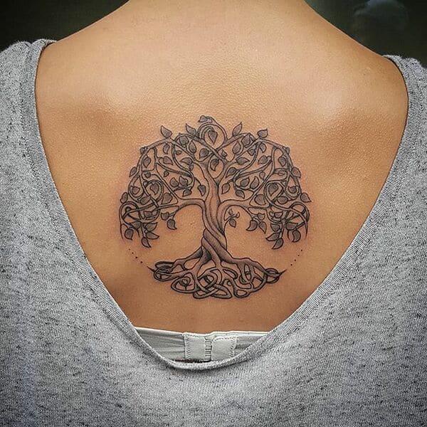 arbol de la vida tatuaje con nombres