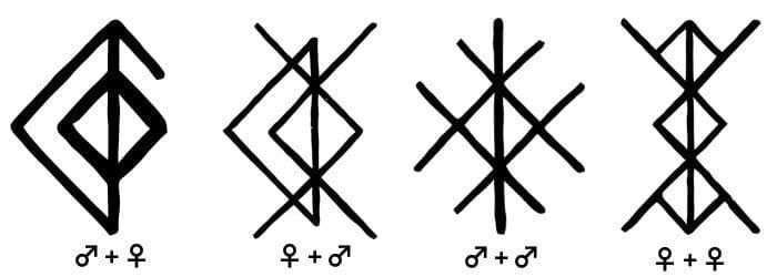runa del amor tatuaje