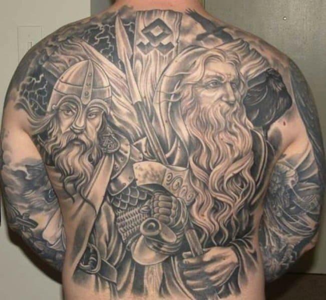 símbolos de protección tatuajes odin thor