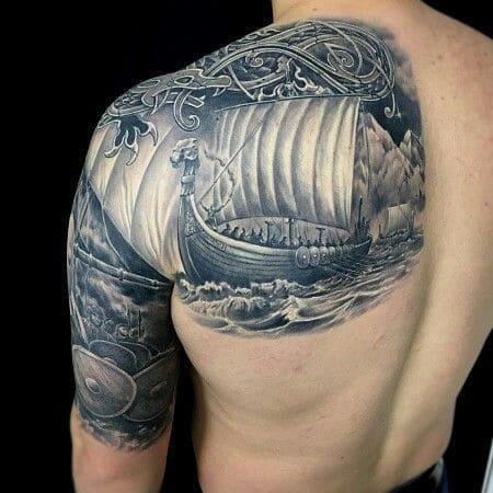 símbolos vikingos tatuajes drakkar