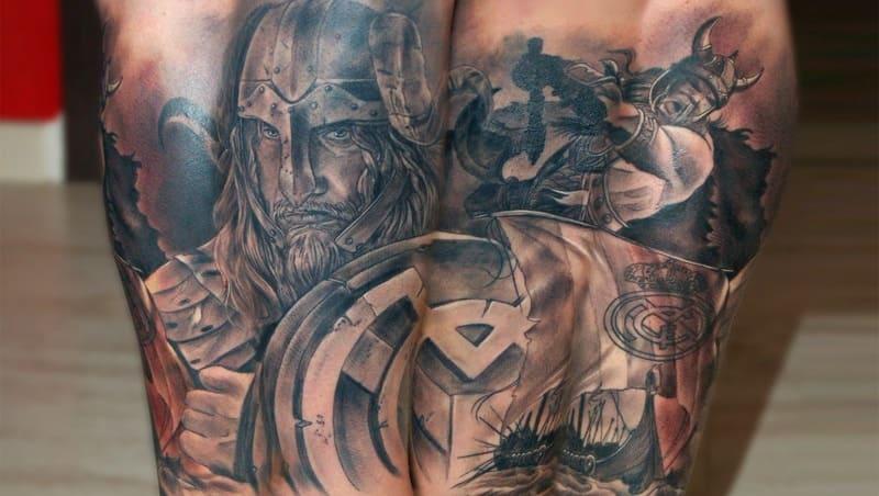 tatuaje escudo real madrid
