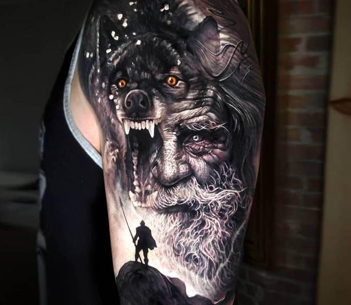 tatuaje odin
