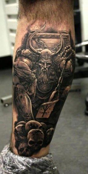 tatuajes calaveras dios nordico