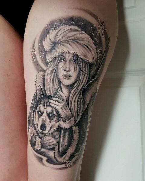 tatuajes de diosas guerreras skadi