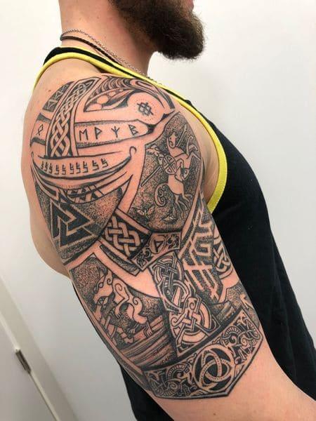 tatuajes increíbles nórdicos