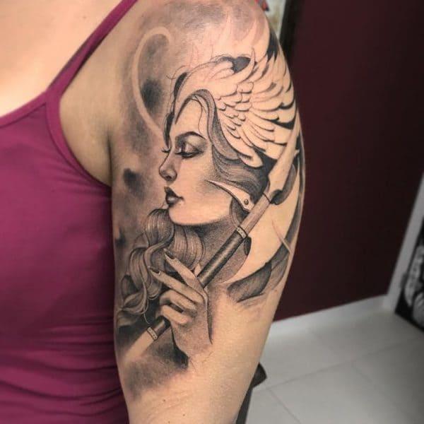 tatuajes vikingos significado guerrera
