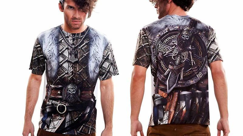 ropa y camisas de runas y vikingas