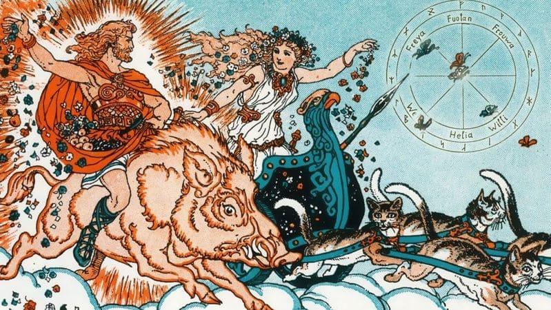 dios Freyr y diosa freya